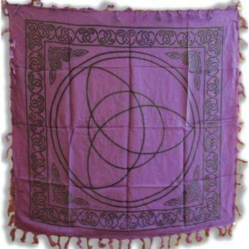 """Triquetra Purple Altar Cloth 36"""" x 36"""" Wiccan Witchcraft Supply Store"""