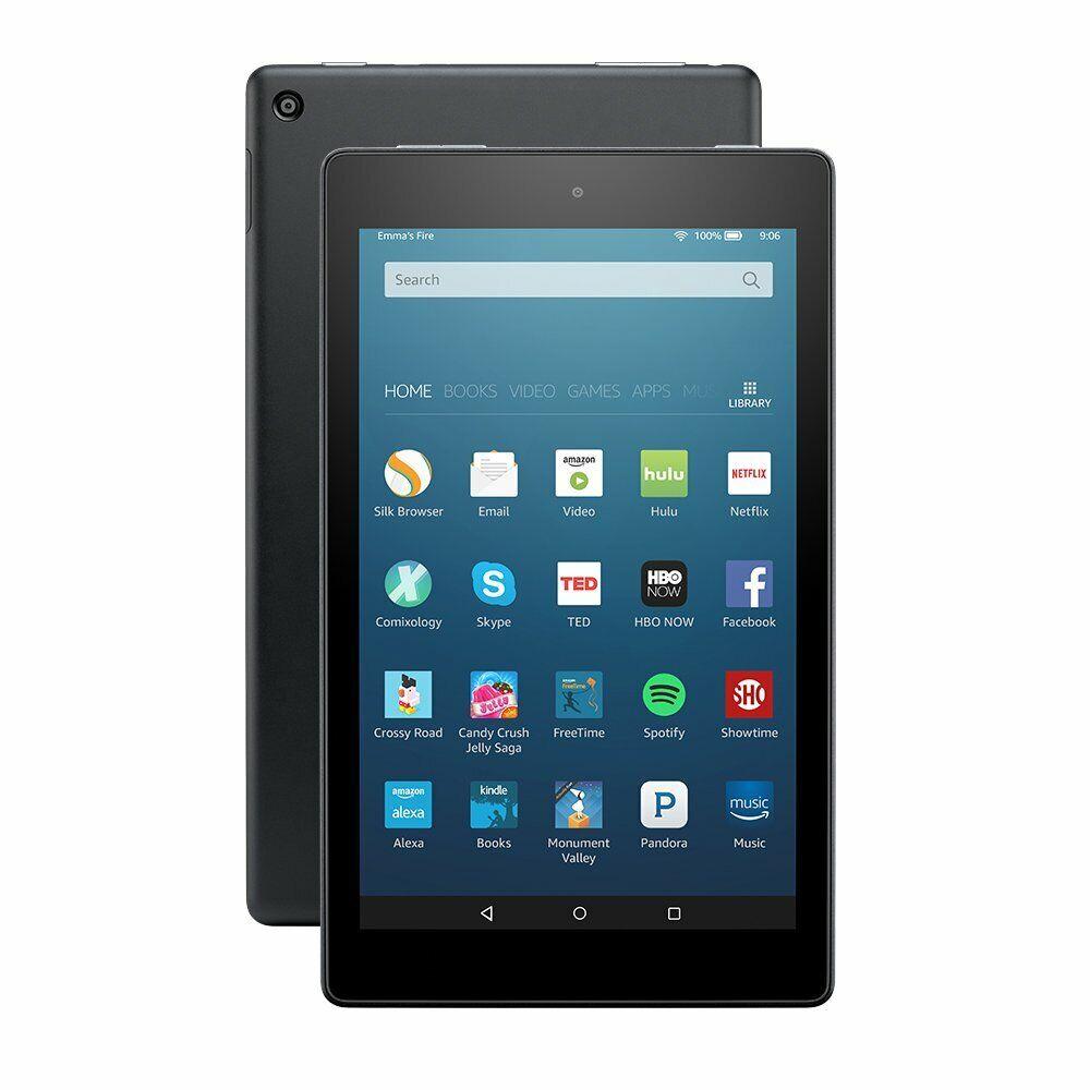 Amazon kindle fire 8 6th génération 16gb pr53dc wi-fi noir tablette android