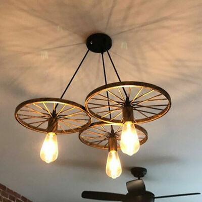 Vintage Chandelier Ceiling Spider Light Industrial Pendant Light Cage 3 Lights