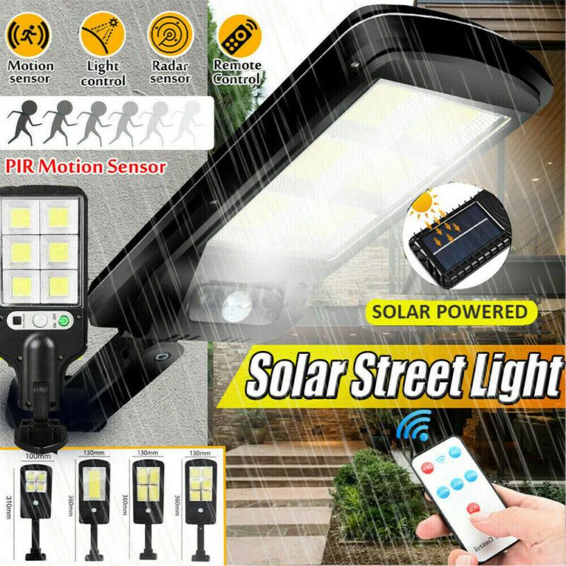 New 600W LED Solar Wall Light Motion Sensor Outdoor Garden Security Street Lamp