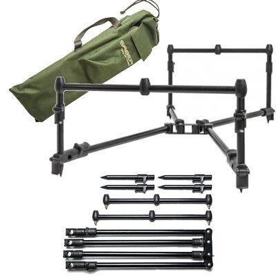 Saber Low Pro Rod Pod For 3 Rod Set Up With Carry Case Bag Carp Fishing