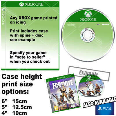 """XBOX Game Case Cake Topper Peel off Icing Sheet  """"Any Game"""""""