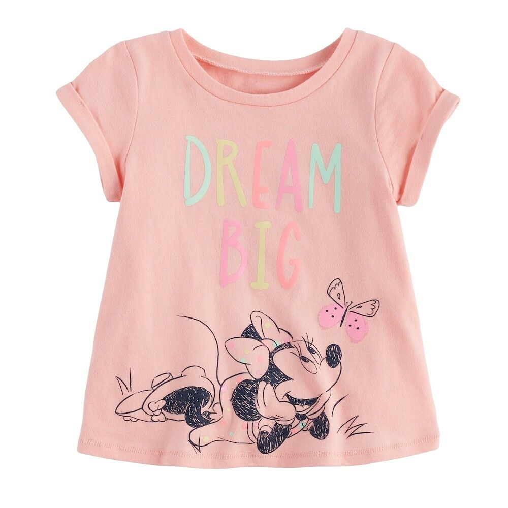 "NWT Disney's Minnie Mouse Baby Girl ""Dream Big"" Swing Tee Sh"