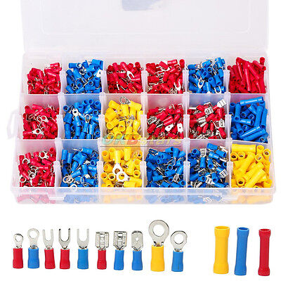 1200 × Assorted Electrical Wiring Connectors Crimp Terminals Set Kits Insulated