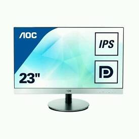 AOC 23 inch IPS Monitor, Display Port, 2 x HDMI, VGA, MHL, Speakers, Vesa I2369VM