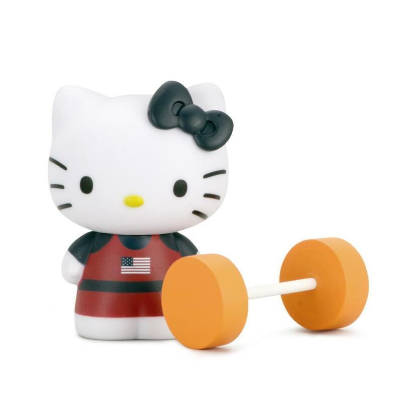 """Kidrobot Hello Kitty Team USA Weightlifting Mini Vinyl Figure 3"""""""