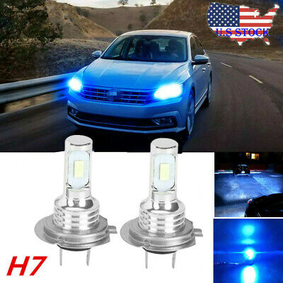 2019 H7 2-Sides LED Headlight Conversion Kit High or Low Light Bulb 8000K DRL (Best Mens Gifts For Christmas 2019)
