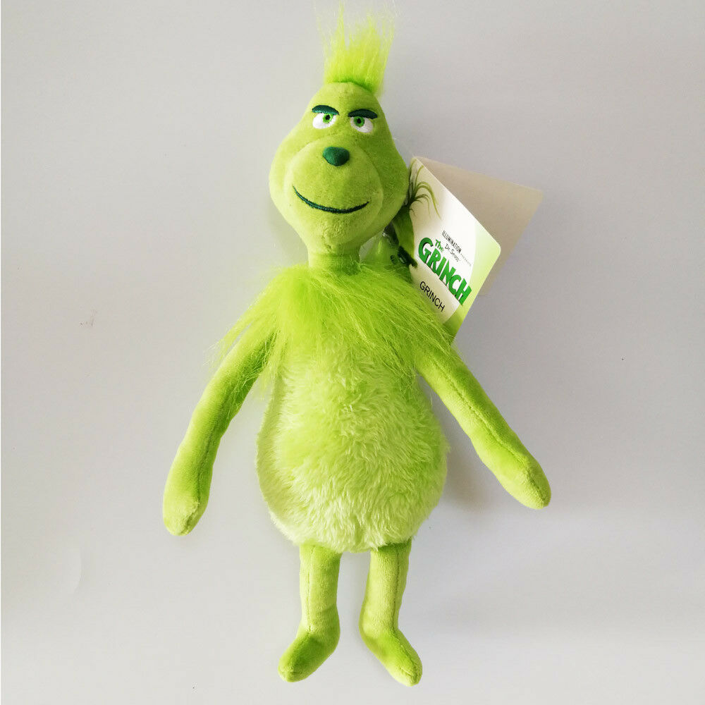 "Grinch plush toy doll how the grinch stole christmas boy girl figurine 12/""//30CM"
