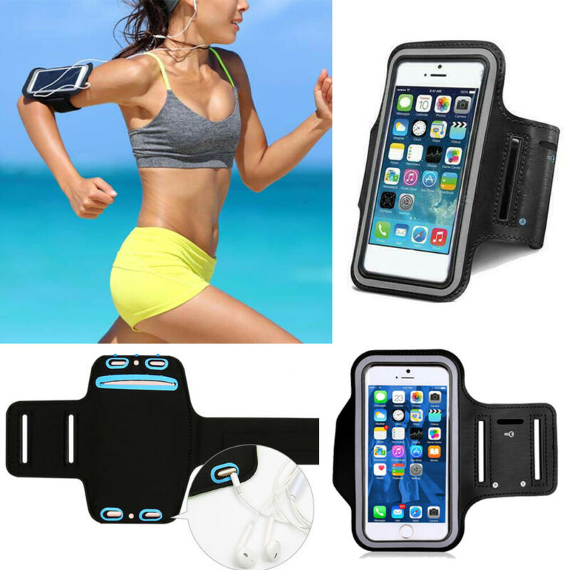 For iPhone 11 XS XR X 8 7 Plus Armband Case Sport GYM Running Exercise Arm Band