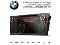"""7"""" Car DVD Player GPS Radio USB SD AUX Bluetooth Sat Nav Stereo For BMW 3 Series E90 E91 E92 E93"""