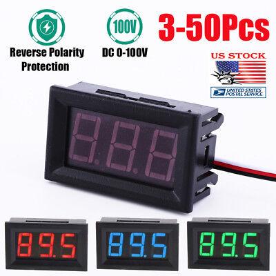 5pcs-10pcs Mini Led Dc 100v Voltmeter Gauge Voltage Volt Panel Meter Display Usa