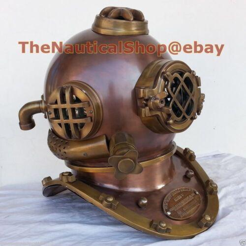 Deep Diving Divers Helmet Antique Collectibles US Navy Diving Helmet Scuba SCA