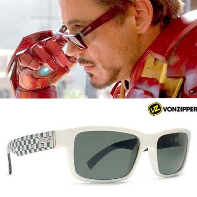 Von Zipper Fulton + original Case Sonnenbrille Iron Man Handmade in Italy