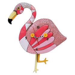 Allen Designs Crazy Legs Flamingo Pendulum Wall Clock
