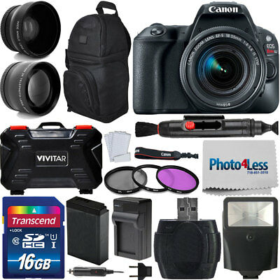 Canon EOS Apostate SL2 200D 24MP DSLR Camera w/ EF-S 18-55mm IS STM Lens Kit + More