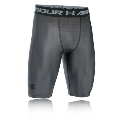 Under Armour Mens Charged Compression Shorts Pants Trousers Bottoms Grey Sports