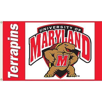 Maryland Terrapins 3' x 5' Collegiate Licensed Annin Flag wi