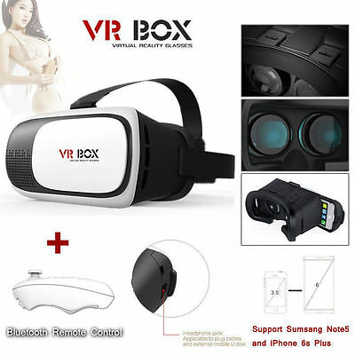 2nd Gen VR BOX Goggles Headset Virtual Reality 3D Glasses & Bluetooth Control