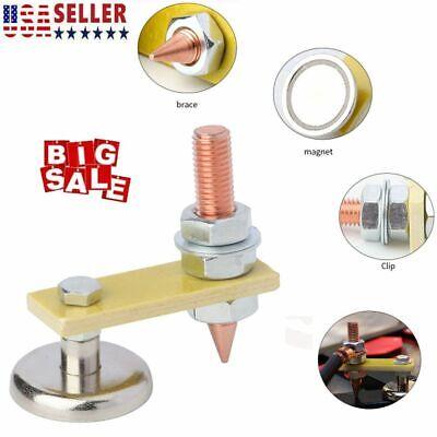 Welding Magnet Head Adjustable Magnetic Welding Support Ground Clamp Holder Us