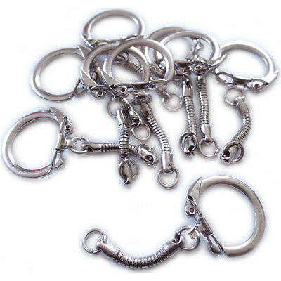 10 Schlüsselanhänger mit Kettchen für Selbstgebasteltes z.B. für Schrumpffolie
