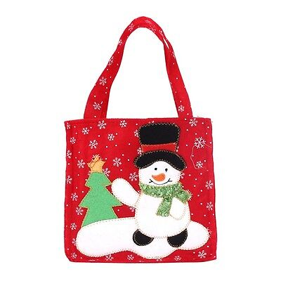 Candy Bags (Snowman Candy Gift Bags Handbag Merry Christmas Storage Package Bag)