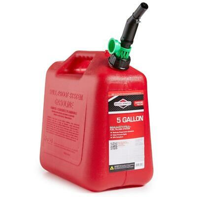 5 Gal Gas Can Fuel Tank Gallon Gasoline Backup Emergency Container Plastic Spout