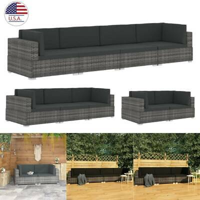 2/3/4PCS Outdoor Patio Sectional Furniture Wicker Rattan Sof