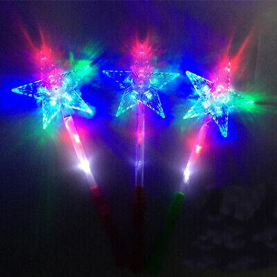 12 PCS Light Up Star Wands Princess Flashing Toys LED Fairy Glow Sticks Magic  (Light Up Star Wand)