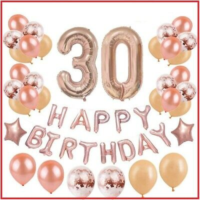 Decorations For 30th Birthday Party (30th Birthday Decorations Party Supplies for Women | Rose Gold Dirty Thirty)
