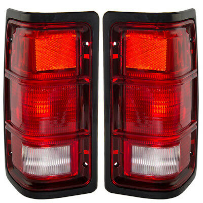 New Pair Set Taillight Taillamp with Black Bezel Housing Dodge Pickup Truck SUV