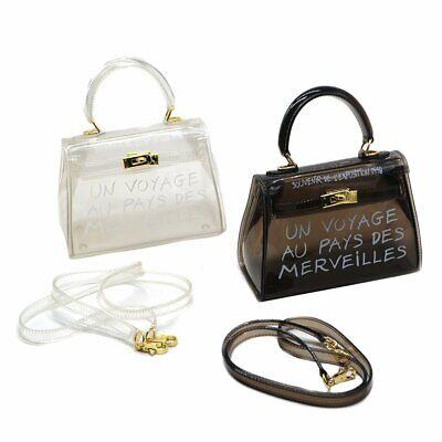 Women Transparent Clear Jelly Tote Bag Ladies Casual Handbag Messenger Bag UK