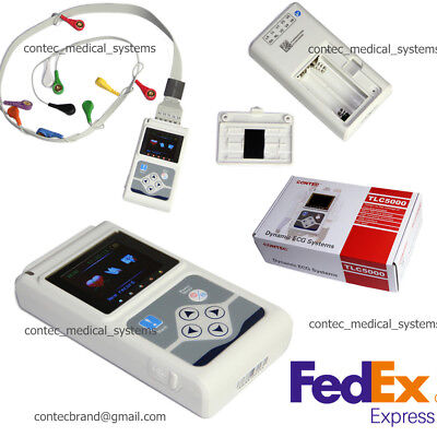 TLC5000 ECG/EKG System 12 channel Holter Monitor Recorder ​Analyzer+PC SW,CE&FDA