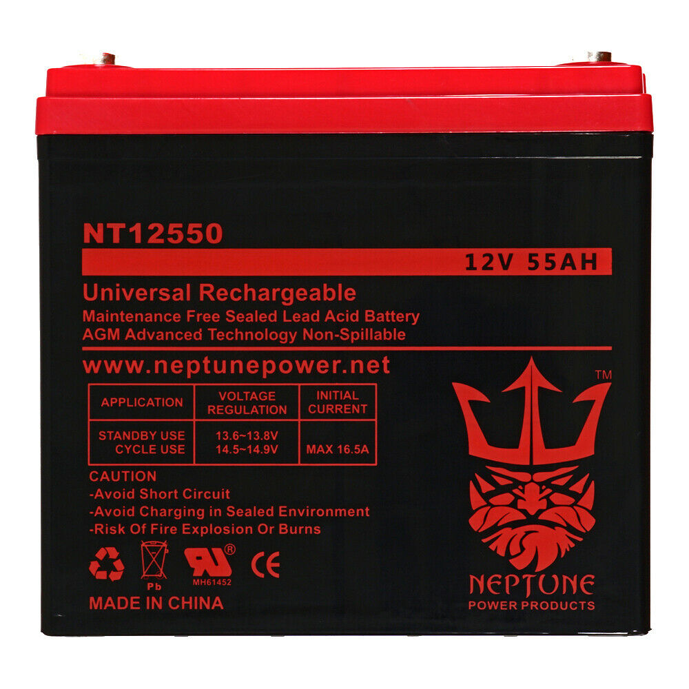12v 55ah agm deep cycle battery