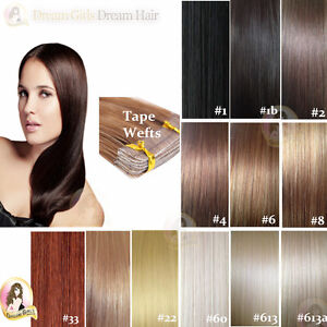 100-HUMAN-REMY-TAPE-HAIR-EXTENSIONS-WEFT-18-24-Waterproof-Tape-holds-3-months