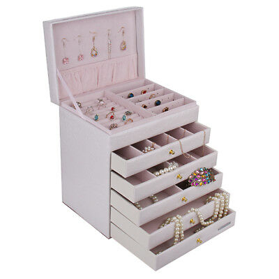 Extra Large Jewelry Box Rings Cabinet Armoire Bracelet Necklace Storage Case 209