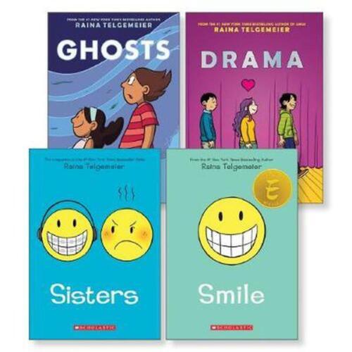 Raina Telgemeier SMILE/SISTERS/GHOSTS OR DRAMA 3 graphic novel book lot