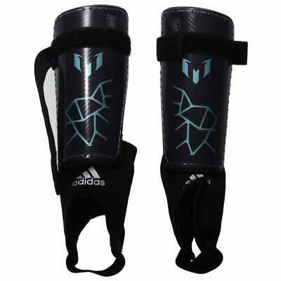 Mens adidas Messi 10 Youth Shin Guards Grey