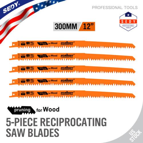"5pc Reciprocating Saw Blades 12"" Set Electric Sawzall Hackza"