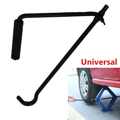 1x Foldable Steel Car Scissor Jack Crank Lever Handle Lift Rod Post Garage Tool