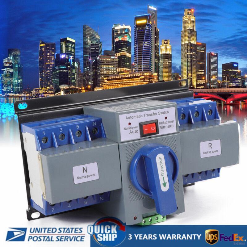 63A 4P Dual Power Automatic Transfer Switch ATS CB level M6 AC110V 50HZ/60HZ USA