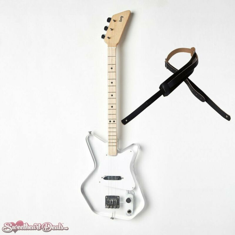 Loog Pro Electric Lucite 3-Stringed Solidbody Guitar - with Strap