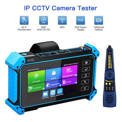 5 Inch 8MP CCTV Tester Monitor AHD CVBS Analog Monitor ONVIF Cable Tester Audio