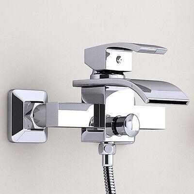 Badewannearmatur Wasserfall Einhebelmischer Wannenarmatur Bad Mischbatterie BA61