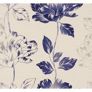 CREATION PURE FLORAL PATTERN FLOWER LEAF MOTIF TEXTURED VINYL WALLPAPER 958812