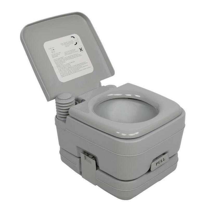 Details about  Portable Toilet 2.8 Gallon 10L Flush porta-potty Outdoor Indoor