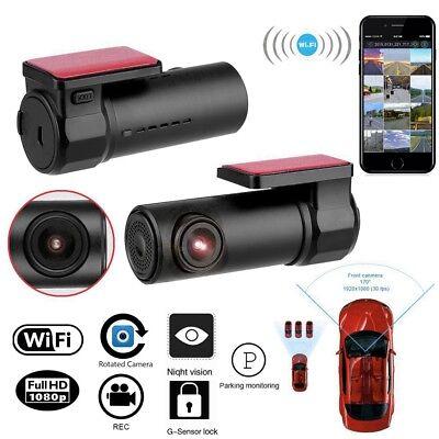 WiFi Mini Auto Kamera 1080P HD Dashcam Recorder KFZ DVR Nachtsicht 170° G-Sensor ()