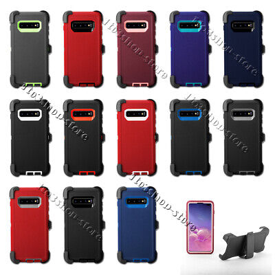 Samsung Galaxy S10/S10+ Plus/S10e Hard Case w/Holster Clip Fit Otterbox Defender