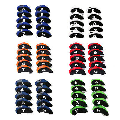- 10pcs Neoprene Golf Club Iron Head Cover For Titleist Callaway Ping Taylormade