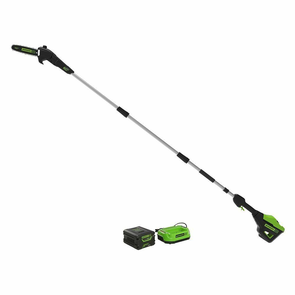 Pole Saw Battery Cordless PRO 10 in. 60-Volt Home 2.0 Ah Bat