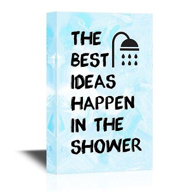 wall26 - Bathroom Canvas Wall Art - The Best Ideas Happen in the Shower -
